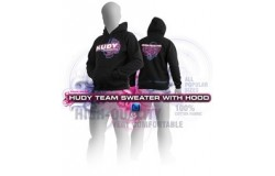 HUDY SWEATER HOODED - BLACK...